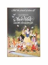 DISNEY OFFICIAL SNOW WHITE AND THE SEVEN DWARFS EVIL QUEEN OLD HAG WOOD WALL ART