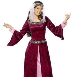 Adult Womens Red Maid Marion Renaissance Costume