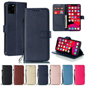 For iPhone 12 11 Pro XS XR 8 7 6s Plus Leather Flip Wallet Card Phone Case Cover