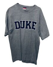Duke Blue Devils Word Logo NCAA Champion Gray T-Shirt Mens Size Large