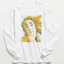 Mens White Seeing Double Long Sleeve Graphic Tee Tshirt
