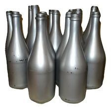 Champagne Bottles Painted Silver Wedding New Years Table Decoration 1 Bottle