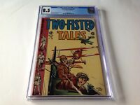 TWO FISTED TALES 40 CGC 8.5 PRE CODE BRITISH GERMAN BIPLANES EVANS EC COMICS