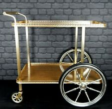 Vintage Retro 60s 70s Hostess Serving Trolley Two Tier Mid Century Wagon Wheels
