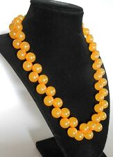VTG APPLE JUICE AMBER BAKELITE CHUNKY DOUBLE BEAD NECKLACE, SIMICHROME TESTED