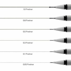 Winsor & Newton FineLiner Pens - 0.1, 0.3, 0.5, 0.8 or 1.0 Sold individually