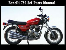 BENELLI 750 PARTS MANUAL 60pg of Diagrams for 750SEI SEi Motorcycle Service