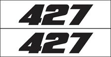MG 2329 427 Horsepower Chevy Corvette GM Engine Decal Sticker Metro Auto Graphic