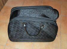 Reisetasche Handtasche Schwarz Muster Neuwertig Rollen
