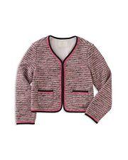 $128 Girl's Kate Spade New York Tweed Jacket, Size 12Y - Pink - NWT -