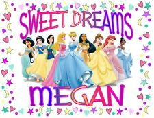 "Disney PRINCESS Personalized PILLOWCASE ""SWEET DREAMS"" Any NAME Super Soft"