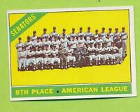 1966 Topps - Washington Senators Team Card (#194)