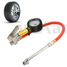 "Car Motorcycle 1/4"" NPT Air Tire Tyre Inflator With Dial Gauge Dual Chuck"