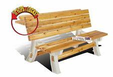 Hopkins 90110ONLMI 2x4basics Flip Top Bench Table, Sand