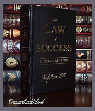 Law of Success by Napoleon Hill New Sealed Leather Bound Deluxe 2 Day Ship