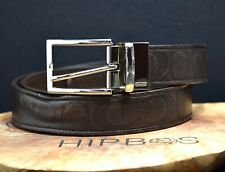 Coach Authentic Reversible Signature Mens Leather Belt Brown Size 38