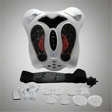 Electromagnetic Wave Pulse Circulation Foot Massager Reflexology Boost & 8 Pads