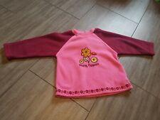 Baby Fleecepulli Mädchen pink Pullover  Gr 80 Pulli