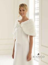 Brautstola Cape zur Hochzeit Pelzoptik mit Schleife  Markenware ivory ♥