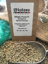 5# ETHIOPIA YIRGACHEFFE UNROASTED, GREEN COFFEE. GRADE 1.  DRY PROCESS/NATURAL.
