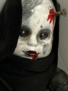 "Horror Zombie Doll  Bloody Halloween Prop 13"" Soft Rubber Vile Evil Blood Sucker"