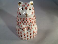 Royal Crown Derby Imari Silver Stopper Hamster Paperweight