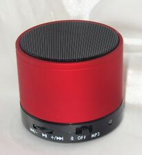 Bluetooth Stereo Lautsprecher Speaker Wireless Musik SD MP3 FM Handy Tablet Rot