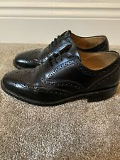 Mens Black Loake Business Brogues Shoes *UK Size 6*