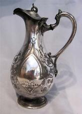 C19th Antique Silver-Plated Wine Ewer of Globular Form - Very AF