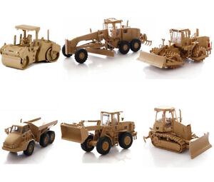 NORSCOT 1/50 Caterpillar CAT Military Wheel Tractor Truck Soil Compactor Grader