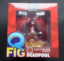 Deadpool figura de Q Rojo Clásico lootcrate Exclusivo En Caja