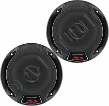 "ALPINE SPR-50 CAR AUDIO STEREO 5.25"" 2-WAY/COAXIAL TYPE-R SPEAKERS SET PAIR 5-¼"