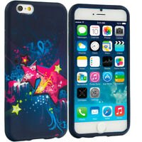 For Apple iPhone 6S (4.7) TPU Design Silicone Soft Case Cover Pink Blue Star