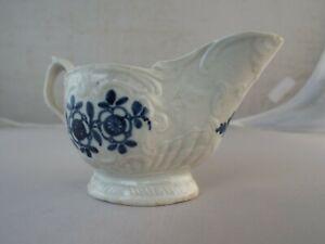 18th Century Liverpool Porcelain Sauce Boat