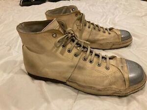 Officine Creative Italia Off-white Leather Ankle Boot Hi-Top Sneakers!!