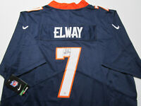 JOHN ELWAY / NFL HALL OF FAME / AUTOGRAPHED BRONCOS BLUE PRO STYLE JERSEY / COA