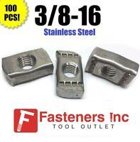 "(4168S2) P3008 SS 3/8""-16 Stainless Steel Strut Nuts 4 Unistrut Channel 100/BOX"