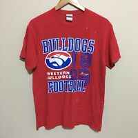 Western Bulldogs Retro AFL Football T-Shirt Mens Medium - Flaws
