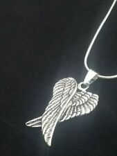 Angel Wings Necklace Stainless Steel Wings on Sterling Silver Chain