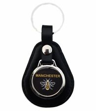MANCHESTER BEE  LEATHER KEYRING