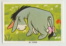 Fher 1970s Spain Spanish Walt Disney Trade Card #36 - Eeyore the Donkey