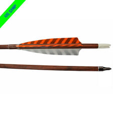 "12X Carbon Arrows SP 400 30"" Archery Recurve Bow Targets Shooting Turkey Feather"