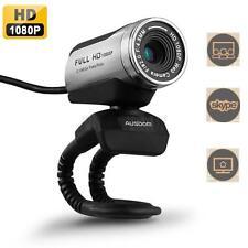 AUSDOM 1080P HD Webcam AW615 USB Video Calling Web Cam Camera with Mic US Ship