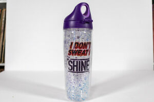 "Tervis Tumbler with Lid 24oz Water Bottle Purple ""I don't swear I shine"""