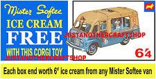 Corgi Toys 428 Mr Softee Walls Ice Cream Van Poster Display Sign Leaflet Advert