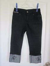 Women's Simon Chang Designer Jean Capris - Size 4 New