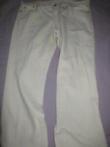 nwt L.L. Bean off white denim painter jeans mens 44 W 32 L free ship USA
