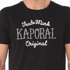 A - Magnifique T-shirt Brodé  Noir Manches Courtes Kaporal Jeans  Taille S