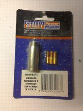 Sealey UGELLO CONICO X 1 e punta di contatto 0.6 mm x 3 TB14 mig953.v2 SPEDIZIONE GRATUITA