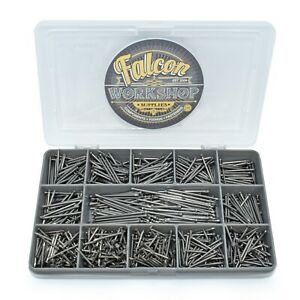 580 (0.4kg) ASSORTED NAILS BRIGHT PANEL PINS CABINET WARDROBE JOINERY PIN KIT